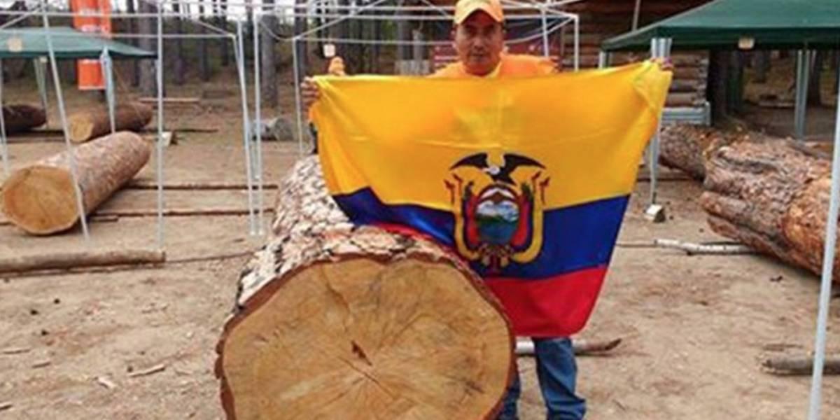 Ecuador si llegó a Rusia con el Mundial de Escultura con motosierra