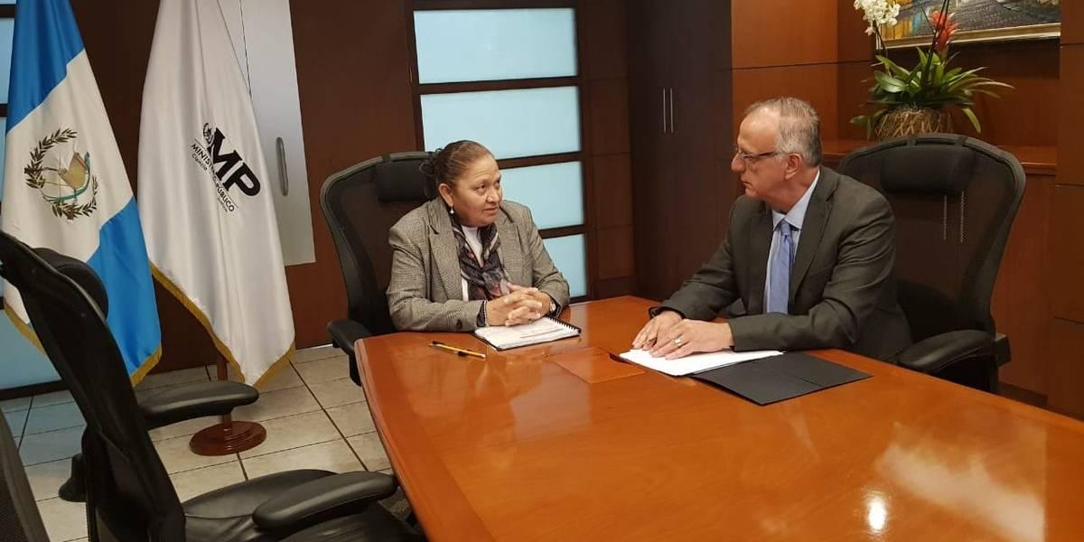 """Fiscal General y jefe de CICIG acuerdan """"seguir trabajando en una estrecha agenda de colaboración"""""""