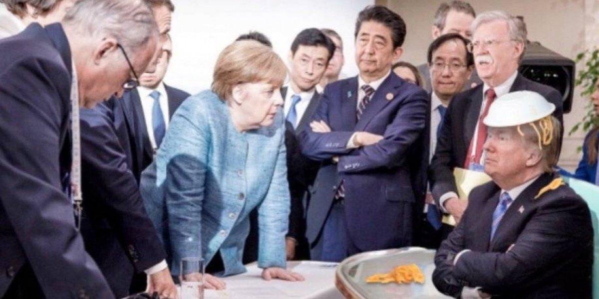La ola de memes que generó la polémica fotografía de Trump en el G7