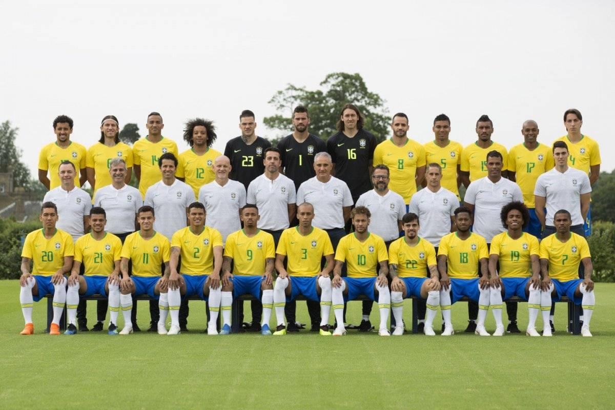 Esta es la foto oficial de la selección brasileña para Rusia 2018