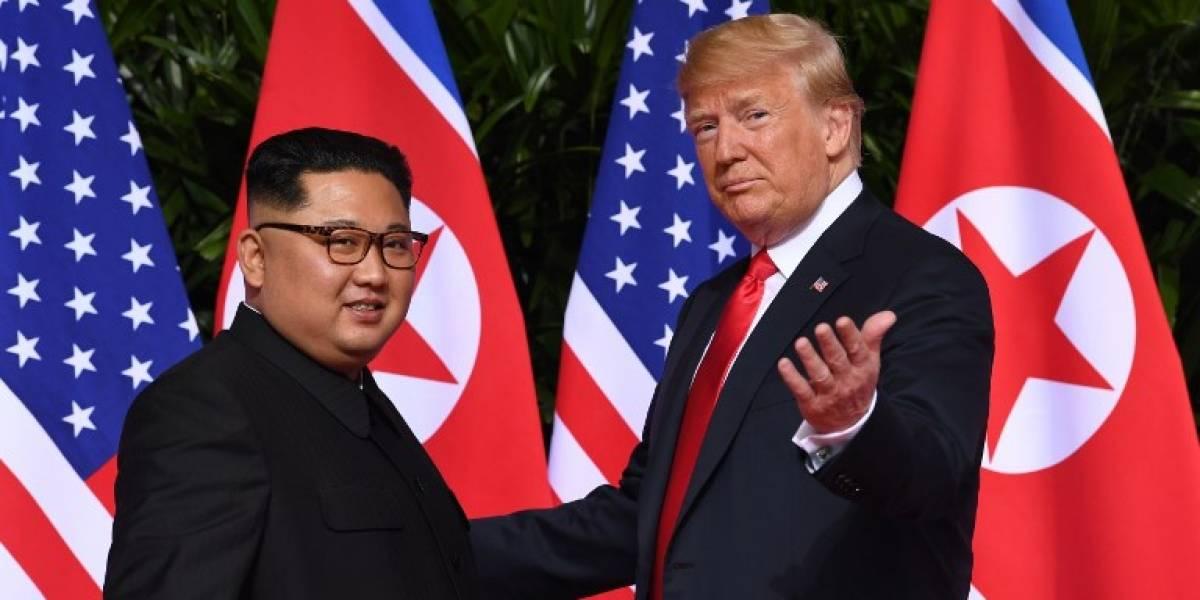 VIDEO. ¡Histórico! Trump y Kim Jong-un estrechan manos por primera vez en Singapur