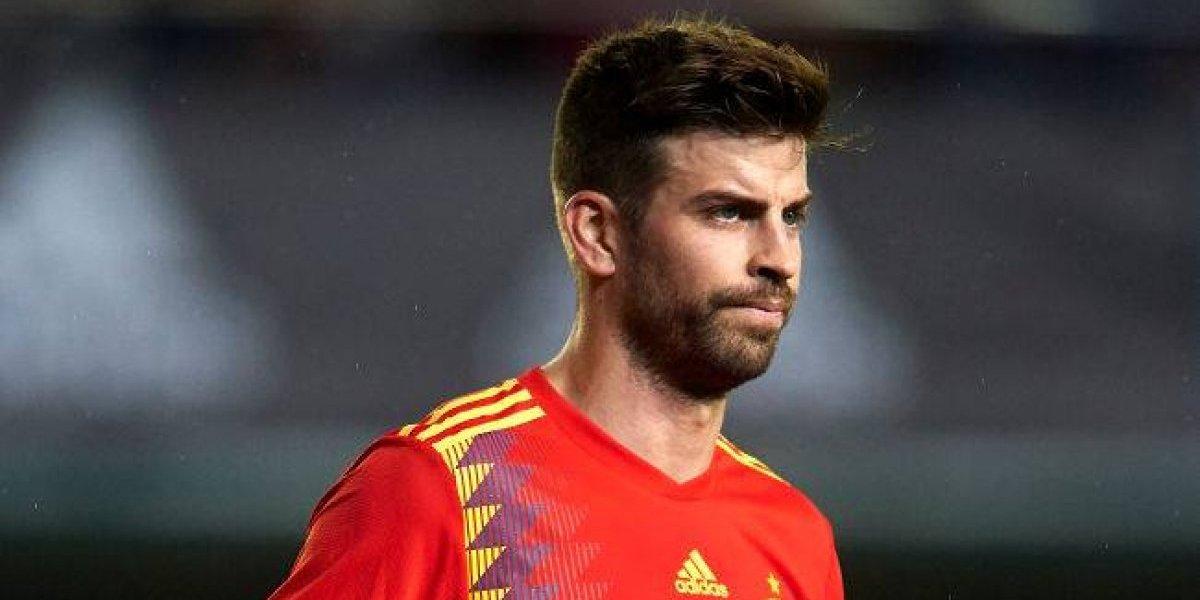 Gerard Piqué abandonó el entrenamiento antes de tiempo y encendió las alarmas en España