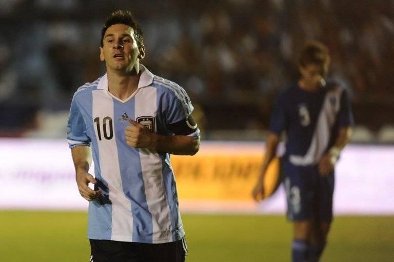 Messi durante el partido ante Guatemala jugado en mayo de 2013
