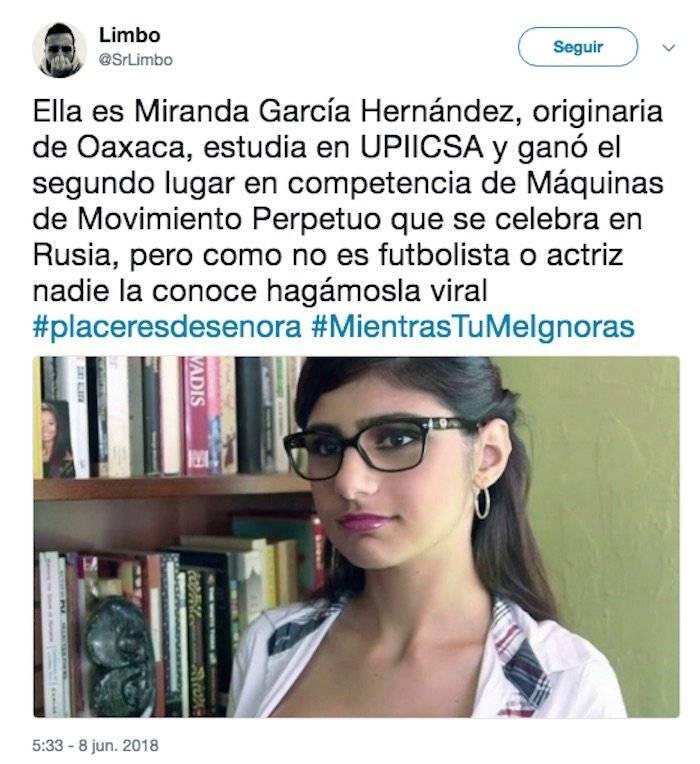 México: Marcelo Ebrard cayó en fake news y compartió una foto de la actriz porno Mia Khalifa