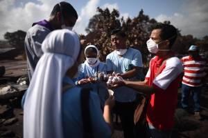 Misioneros de la Caridad en zona cero