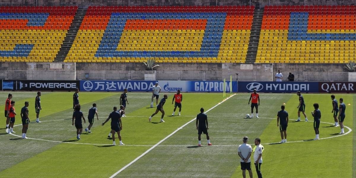 Fred fica fora do primeiro treino da seleção brasileira na Rússia