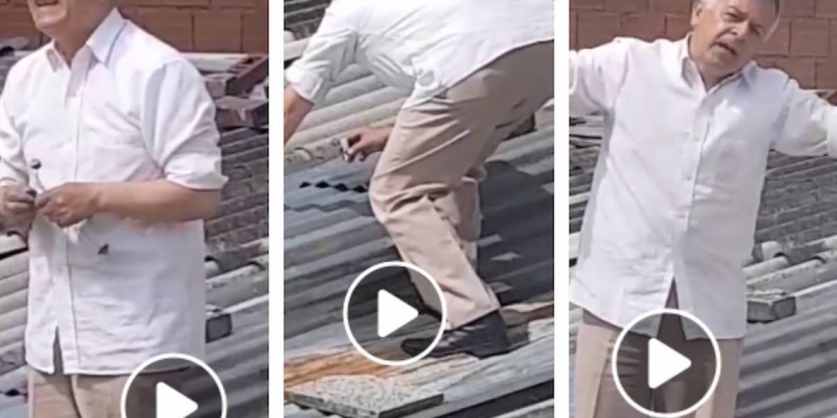 Videos: captan hombre que aparentemente pone veneno para matar gatos en Bogotá