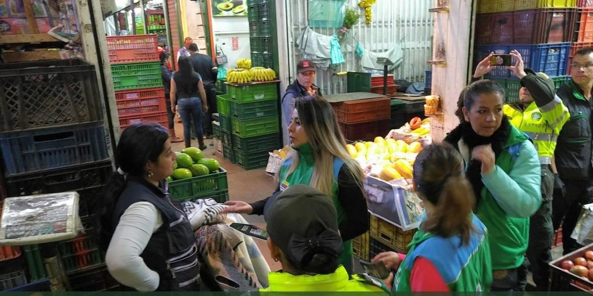 Rescatan 57 niños de la mayor central de abastecimiento de Bogotá