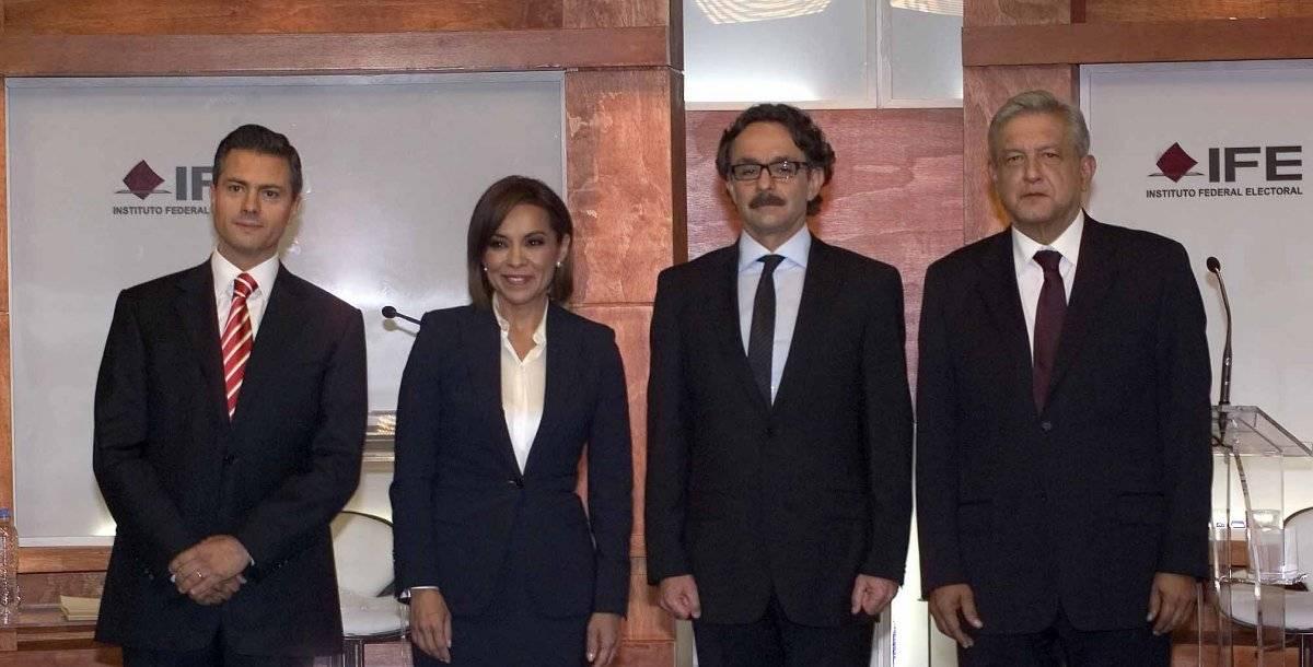 Los cuatro candidatos presidenciales Foto: Cuartoscuro