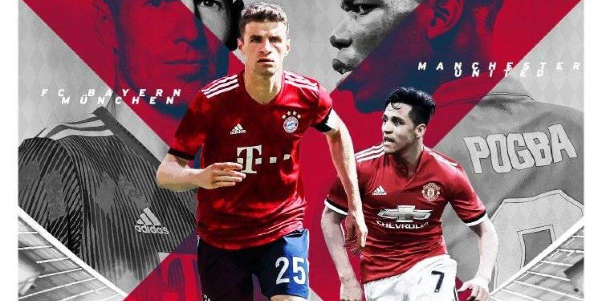 ¿Lo jugará Vidal? Bayern Munich anunció amistoso ante Manchester United con Alexis a la cabeza