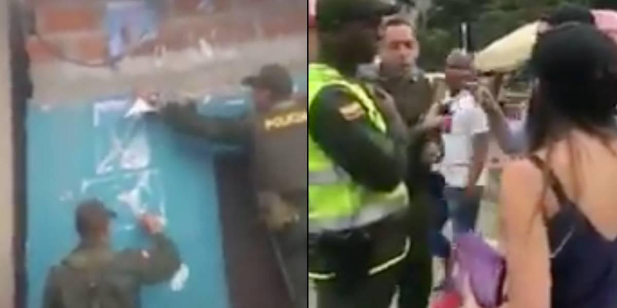 Policías que destruyeron publicidad de Gustavo Petro serían investigados