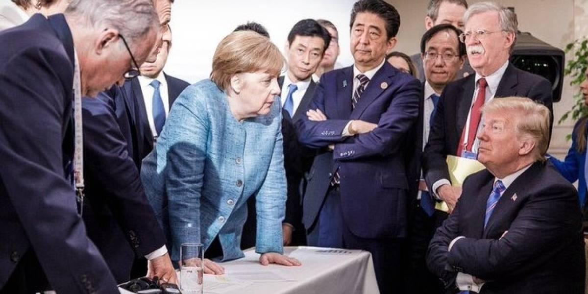 """¿Qué hay detrás de la imagen de Merkel """"regañando"""" a Trump?"""