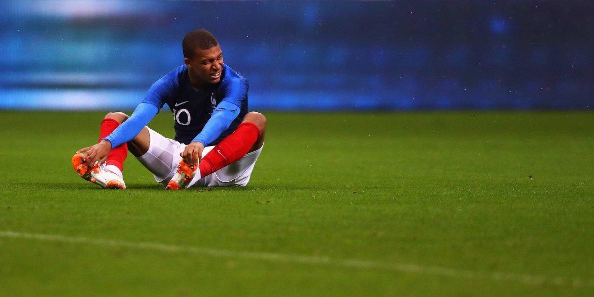 VIDEO: Mbappé se lesiona a cuatro días del debut de Francia en Rusia 2018