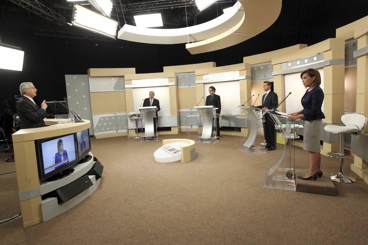 Participaron los cuatro candidatos a la presidencia Foto: Cuartoscuro