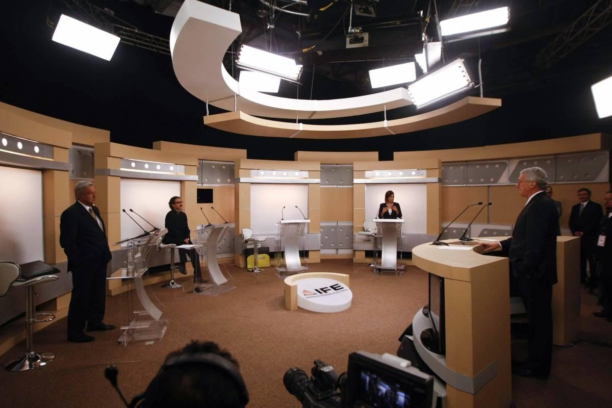 El segundo debate presidencial ocurrió en Expo Guadalajara Foto: Cuartoscuro