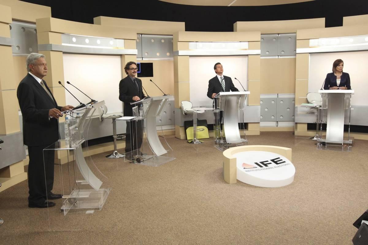 Solamente ocurrieron dos debates presidenciales Foto: Cuartoscuro