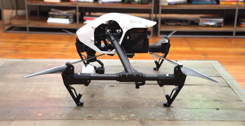 El dron utilizado por la policía