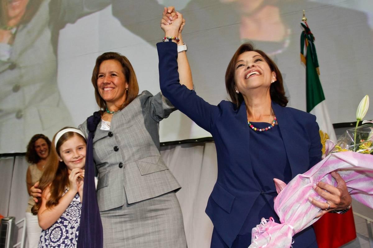 Josefina Vazquez Mota era la candidata presidencial, mientras que Margarita Zavala (ex candidata presidencial en 2018) era primera dama Foto: Cuartoscuro