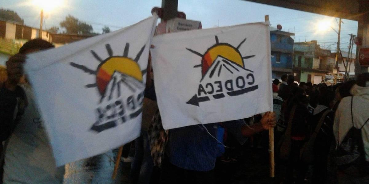 Integrantes de Codeca se reúnen en cuatro puntos previo a iniciar movilizaciones