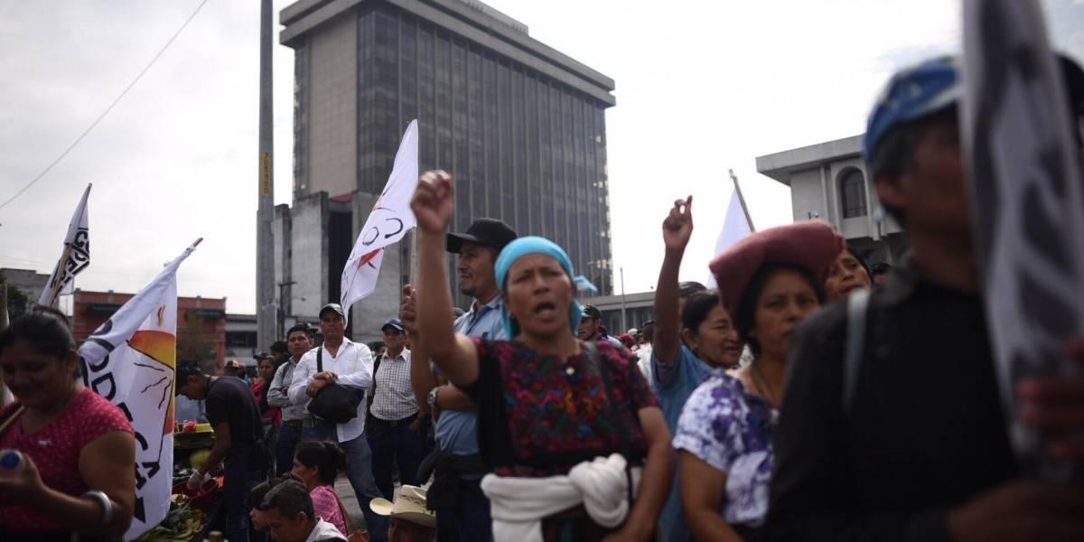 Integrantes de Codeca realizan marchas en la capital