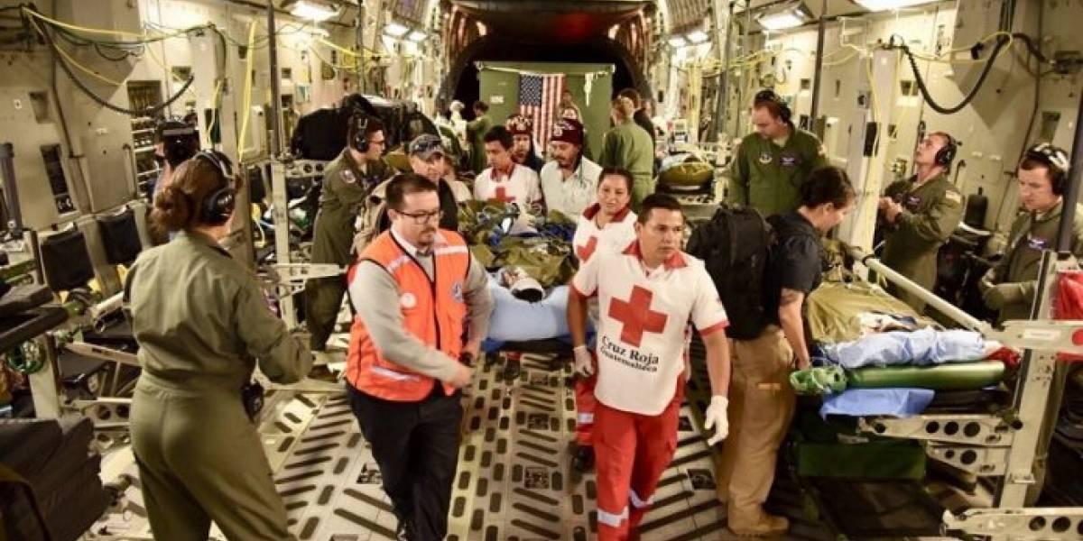 Niños heridos en la tragedia del volcán de Fuego, tratados a EE.UU., en condición crítica