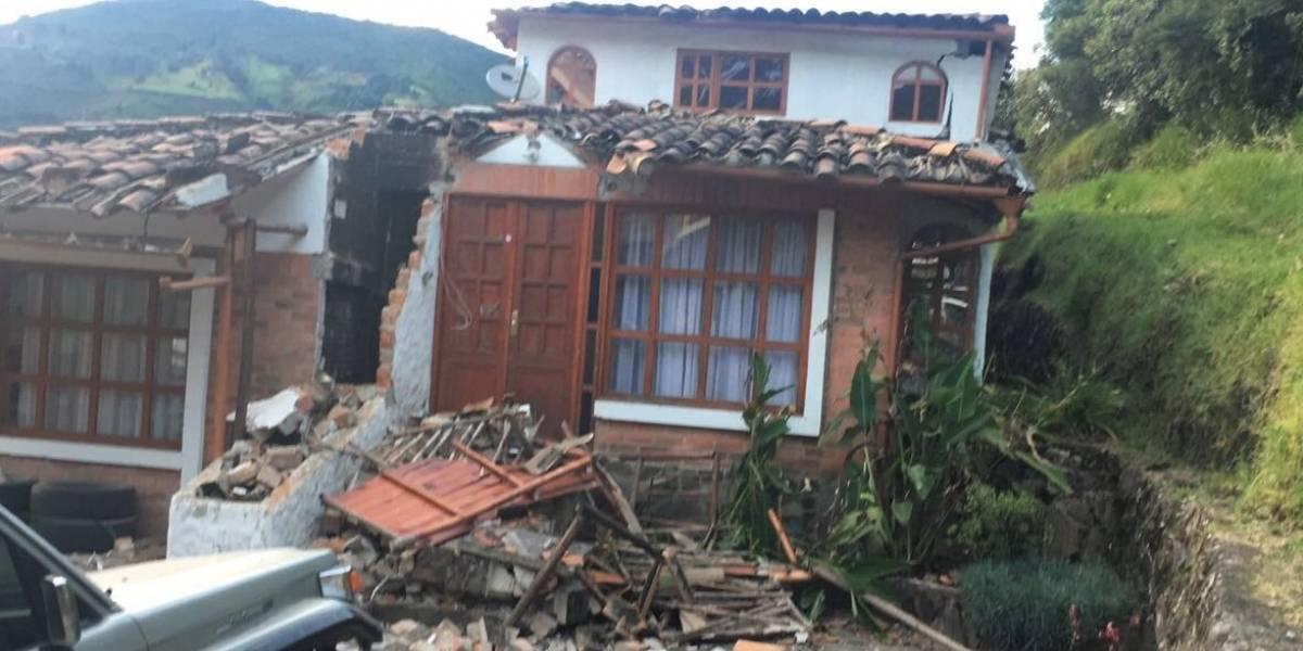 Las fuertes imágenes que dejó el temblor en Pasto en la madrugada del martes