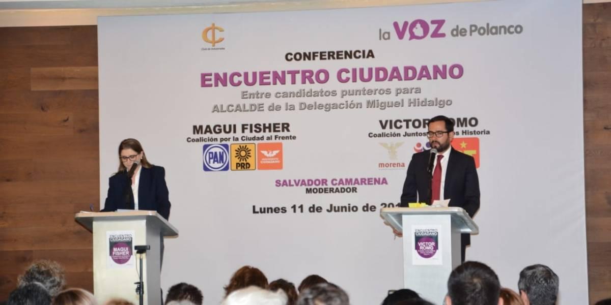 Chocan Romo y Fisher por negocios ilegales en Miguel Hidalgo