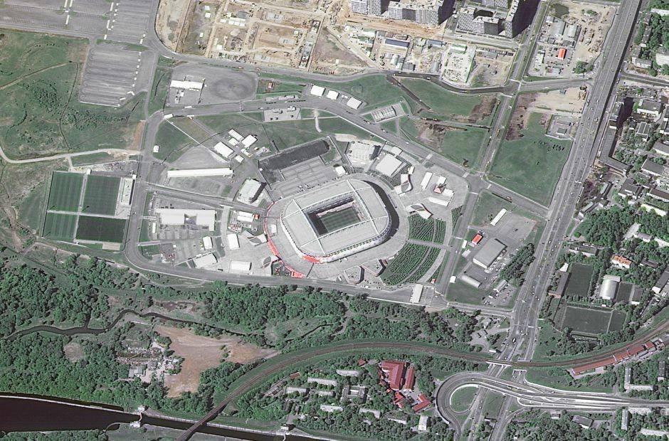 El Spartak Stadium de Moscú, también conocido como Otkrytie Arena, puede albergar hasta 45.000 espectadores y su construcción costó 430 millones de dólares.
