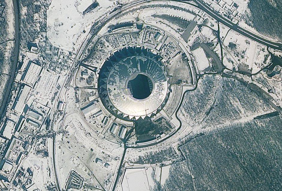 """El Samara Arena también tiene como etiqueta """"Cosmos Arena"""" y es otro estadio con capacidad máxima de 45.000 asistentes."""