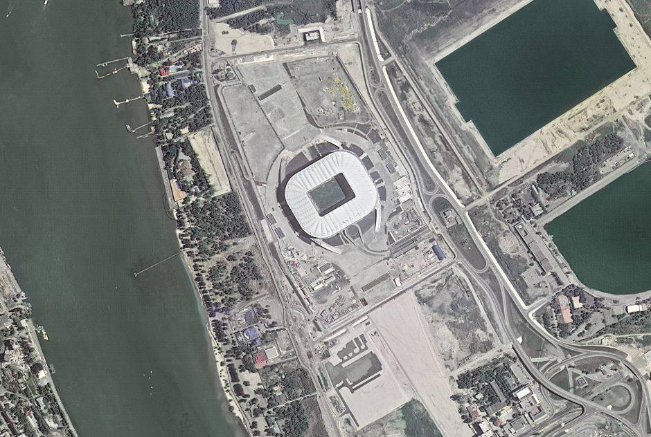 El Rostov Arena ubicado en Rostov del Don recibe hasta 43.700 visitates