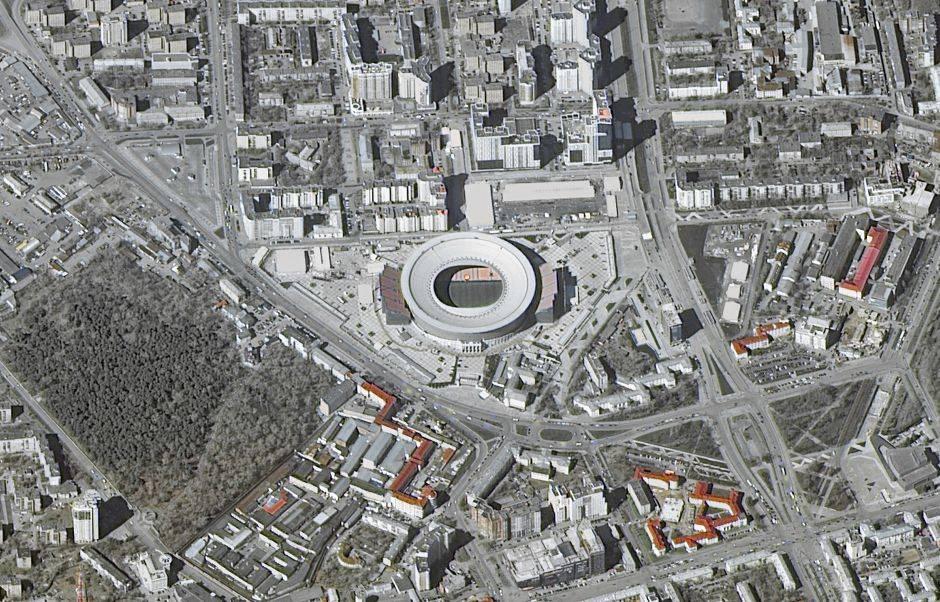 Ekaterinbug Arena, o Estadio Central, puede recibir hasta 42.500 visitantes.