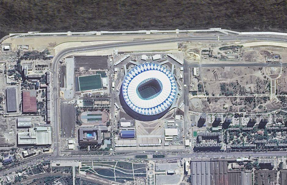El Volgogrado Arena, ubicado en la ciudad de Volgogrado (antes Stalingrado), tiene una capacidad de 45.500 espectadores