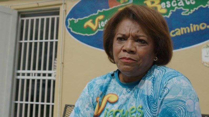 Elba Oquendo, presidenta de Viequenses En Rescate