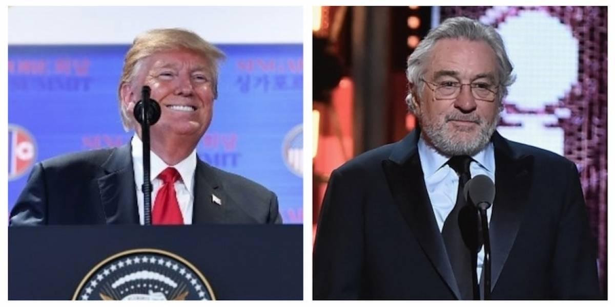 """Con un """"explosivo"""" tuit, Trump responde al insulto del actor Robert De Niro"""