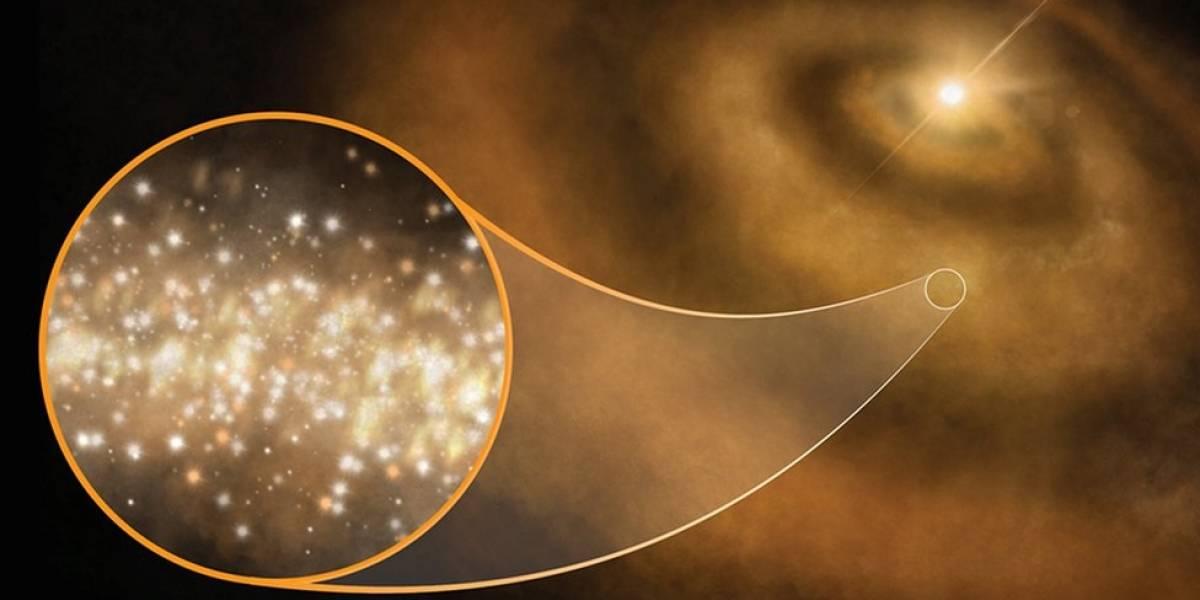 Los diamantes que explican la misteriosa luz que emana de la Vía Láctea