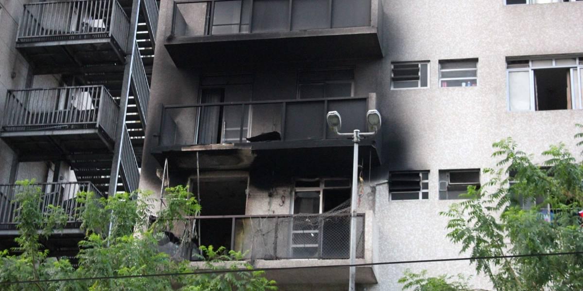 Incêndio destroi apartamento no centro de São Paulo