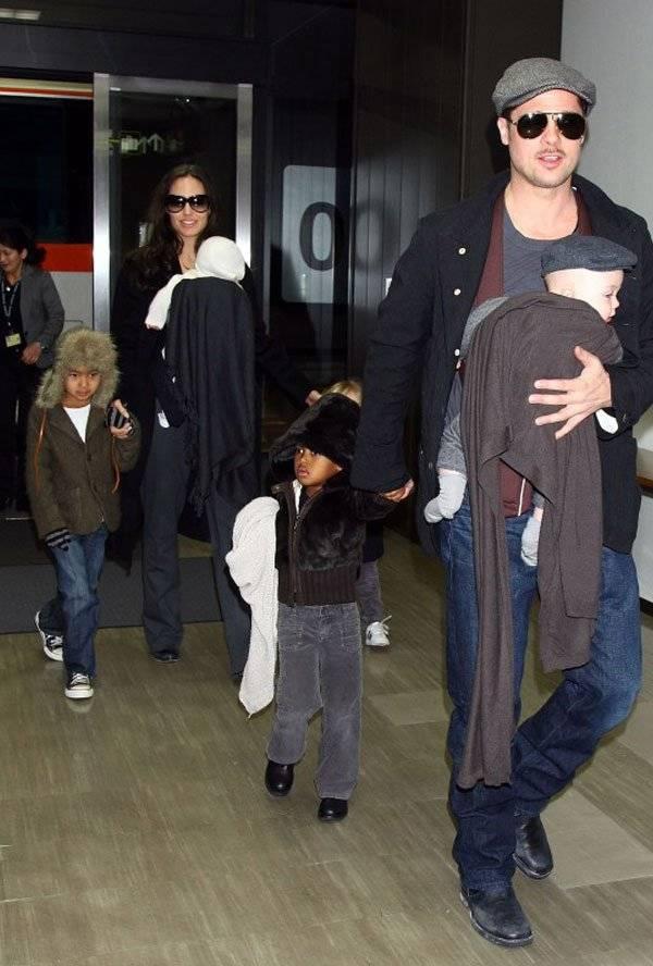 Angelina Jolie Brad Pitt Custodia Hijos