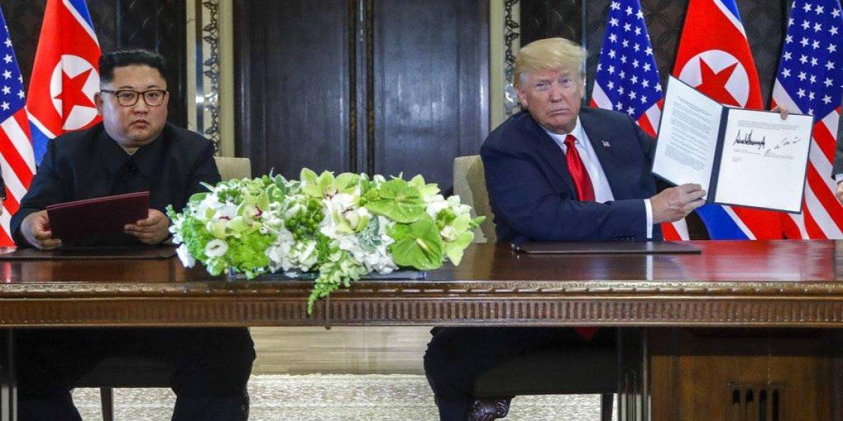"""""""Ya no hay una amenaza nuclear de Corea del Norte"""": Trump envía fuerte mensaje al mundo tras volver a EEUU tras histórica cita con Kim"""