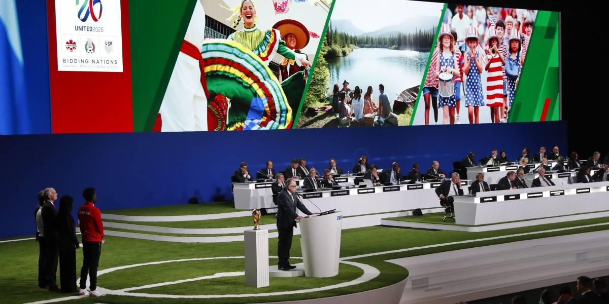 FIFA oficializa a Estados Unidos, Canadá y México como sedes para Mundial de fútbol del 2026