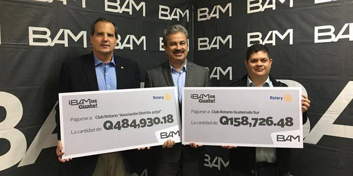 BAM entrega donativo de más de medio millón de quetzales a damnificados