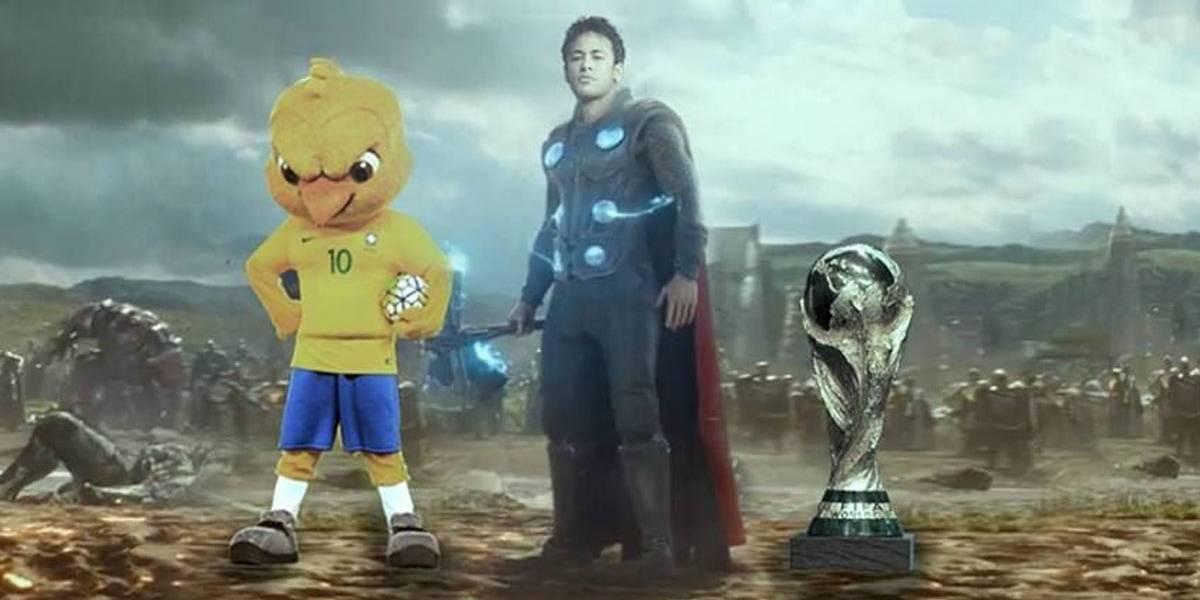 Que Thor, que nada! Versão dos Vingadores da Copa tem Canarinho Pistola e Neymar