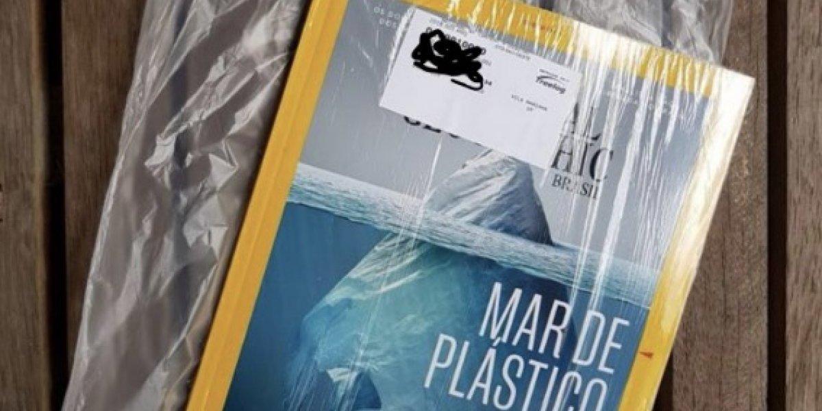 """""""Advierte lo dañino que es el plástico, viene dentro de una bolsa de plástico"""": la crítica viral por la contradicción de revista National Geographic"""