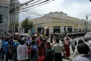 Campesinos han manifestado para rechazar el asesinato de sus líderes comunitarios.