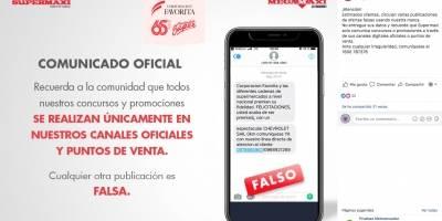 Supermaxi desmiente información sobre promociones y premios