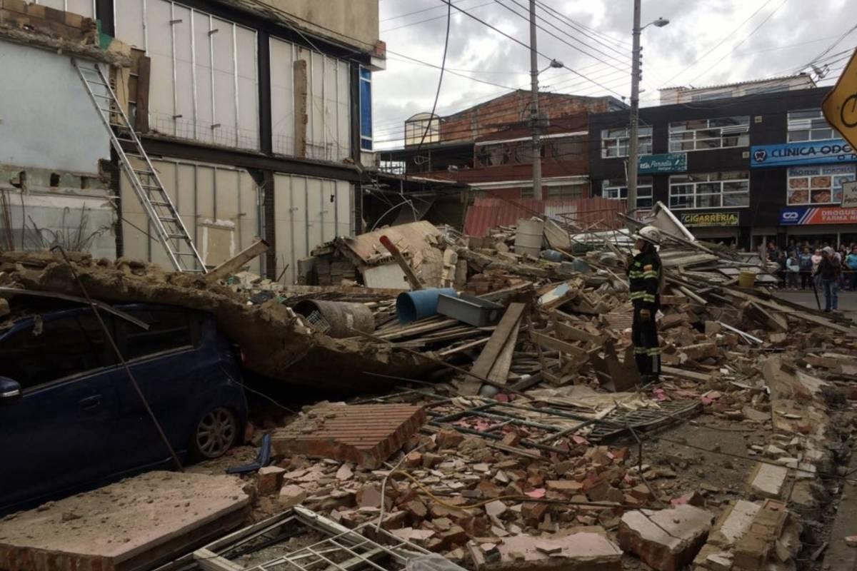 Colapso de vivienda al sur de Bogotá Cortesía