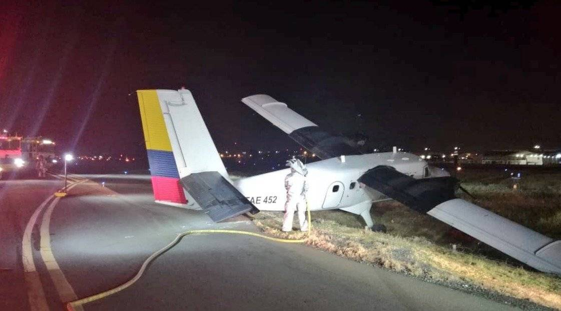 Avioneta perdió pista en el aeropuerto de Guayaquil Cortesía Twitter