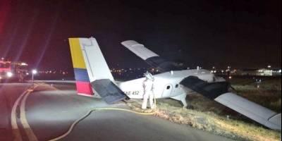 Avioneta perdió pista en el aeropuerto de Guayaquil