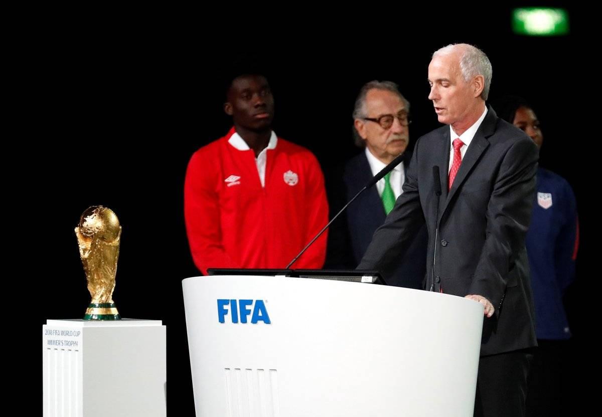 Norteamérica organizará el Mundial de 2026, el primero con 48 selecciones, tras triunfar la candidatura conjunta de México, Estados Unidos y Canadá sobre la de Marruecos, en el Congreso de la FIFA celebrado este miércoles en Moscú. Foto: EFE