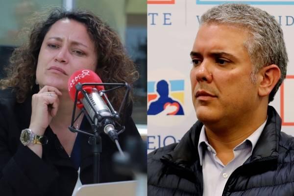 Fuerte crítica de Angélica Lozano contra Iván Duque