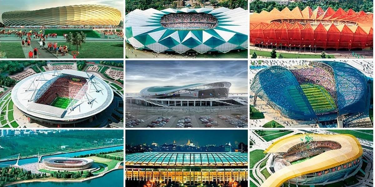 Infografía: Mundial de Fútbol Rusia 2018; Los estadios de la copa
